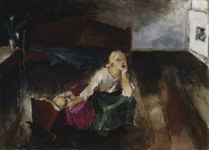 Alvar Cavén: Kehtolaulu (1921). Alfred Kordelinin Säätiön talletuskokoelma. Kuva: Kansallisgalleria
