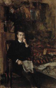 Akseli Gallen-Kallelan maalaus Bohême (1888) on muotokuva C. A. Dørnbergerista. Kuva: Suomen Kansallisgalleria